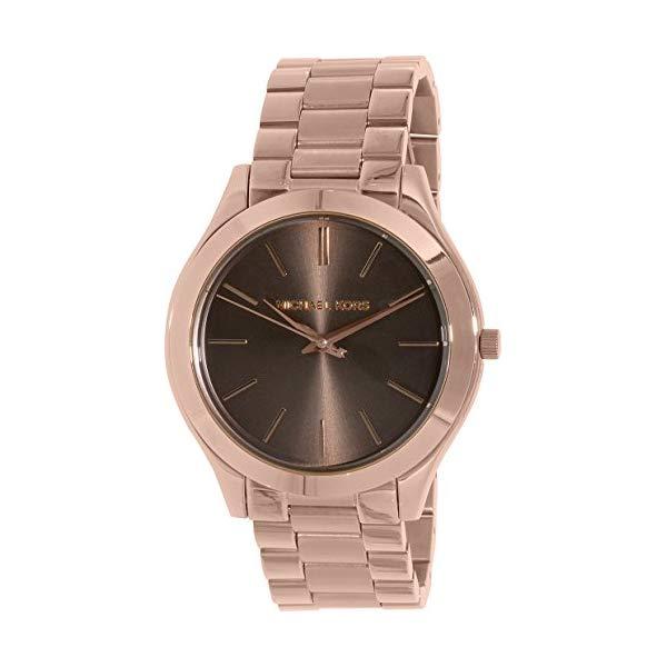 マイケルコース 時計 ウォッチ 腕時計 レディース 女性用 MK3181 Michael Kors Women's 'Slim Runway' Quartz Stainless Steel Watch, Color:Rose Gold-Toned (Model: MK3181)