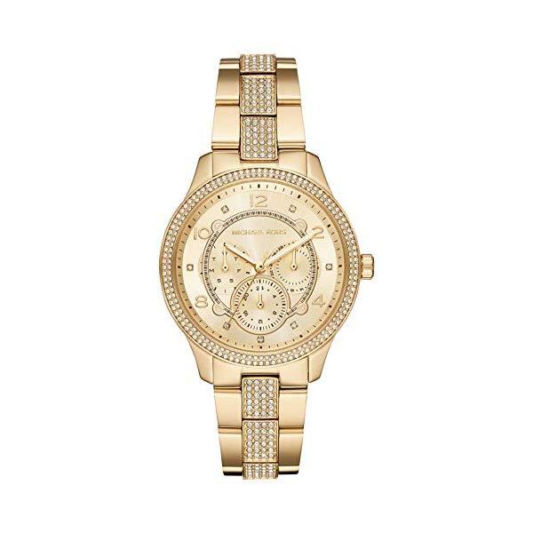 マイケルコース 時計 ウォッチ 腕時計 MK6613 Michael Kors MK6613 Yellow Gold Steel 316 L Woman Watch