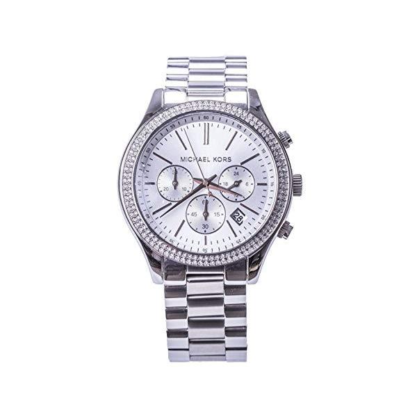 マイケルコース 時計 ウォッチ 腕時計 Michael Kors 'Slim Runway' Crystal Bezel Chronograph Bracelet Watch, 42mm