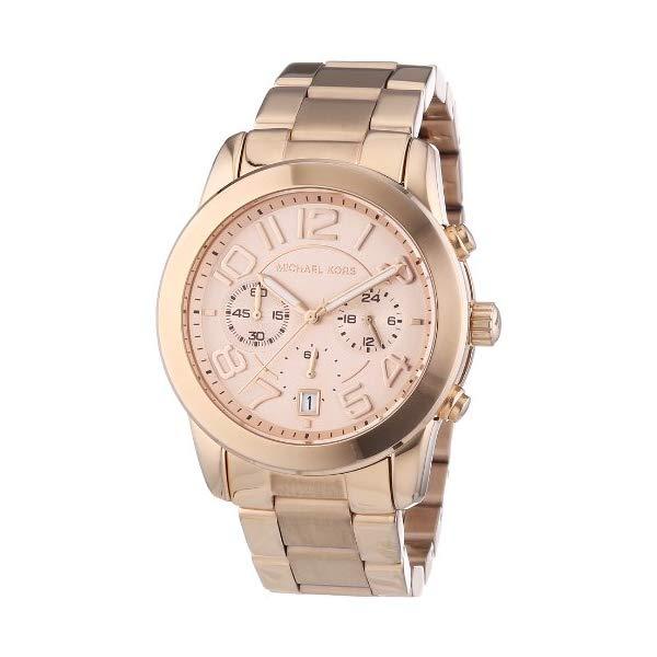 マイケルコース 時計 ウォッチ 腕時計 レディース 女性用 MK5727 Michael Kors MK5727 Women's Mercer Rose Gold-Tone Stainless Steel Bracelet Chronograph Watch