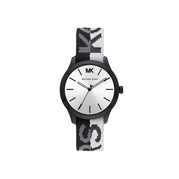 マイケルコース 時計 ウォッチ 腕時計 レディース 女性用 MK2844 Michael Kors Women's Runway Stainless Steel Quartz Watch with Nylon Strap, Multi, 18 (Model: MK2844)