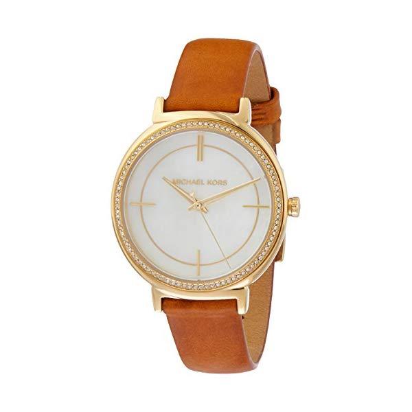 マイケルコース 時計 ウォッチ 腕時計 レディース 女性用 MK2712 Michael Kors Women's Cynthia Brown Leather Watch MK2712
