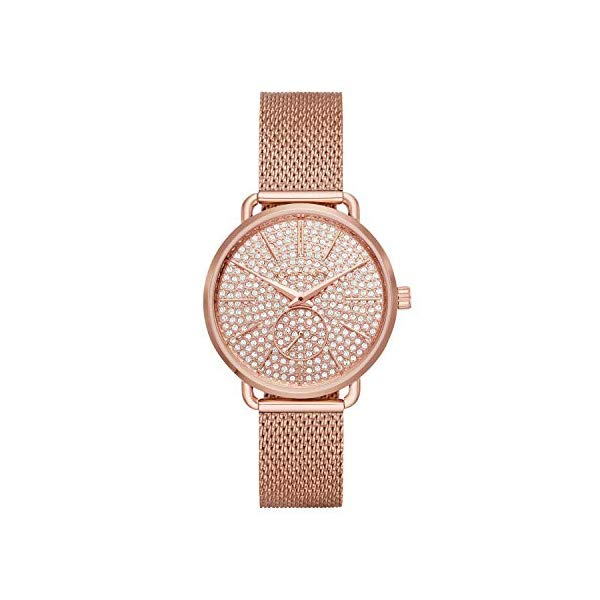 マイケルコース 時計 ウォッチ 腕時計 レディース 女性用 MK3878 Michael Kors Women's Portia Rose Gold Tone Satinless Steel Watch MK3878