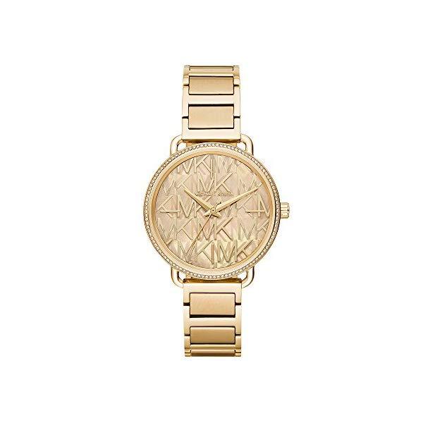 マイケルコース 時計 ウォッチ 腕時計 レディース 女性用 MK3886 Michael Kors Women's Portia Gold Tone Stainless Steel Watch MK3886