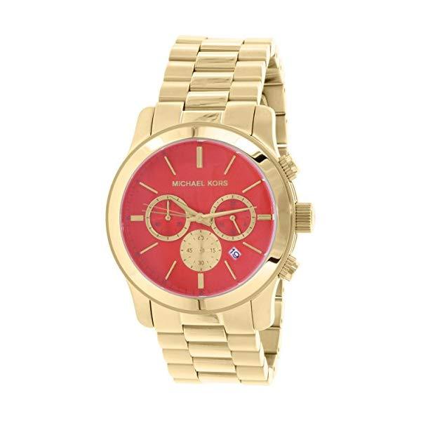 マイケルコース 時計 ウォッチ 腕時計 レディース 女性用 Michael Kors Women's Runway Gold/Vibrant Orange