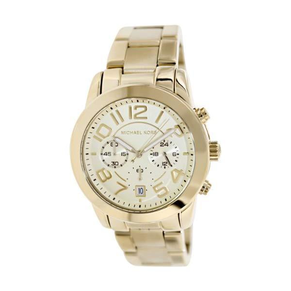 マイケルコース 時計 ウォッチ 腕時計 レディース 女性用 MK5726 Michael Kors Women's MK5726 Mercer Chronograph Gold Watch
