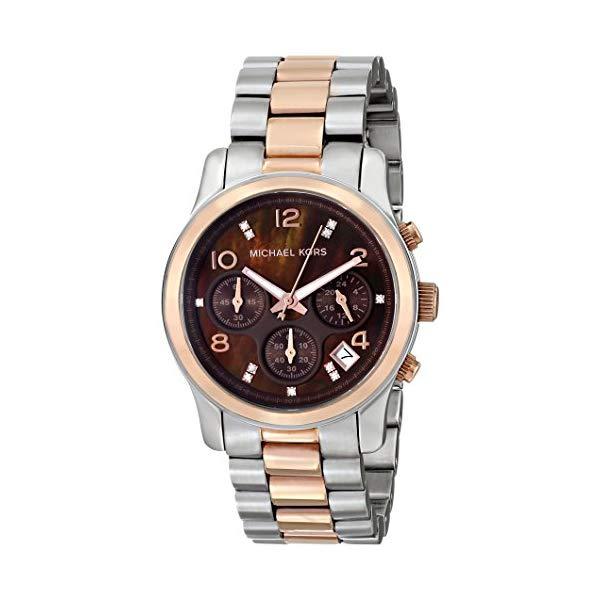 マイケルコース 時計 ウォッチ 腕時計 レディース ウォッチ 女性用 腕時計 MK5495 Michael Two Kors Women's MK5495 Runway Two Tone Chronograph Watch, 幸せアイテム 美来:ce60e0ce --- ww.thecollagist.com