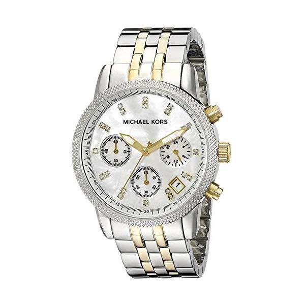 マイケルコース 時計 ウォッチ 腕時計 レディース 女性用 MK5057 Michael Kors MK5057 Women's Two Tone Chronograph Watch