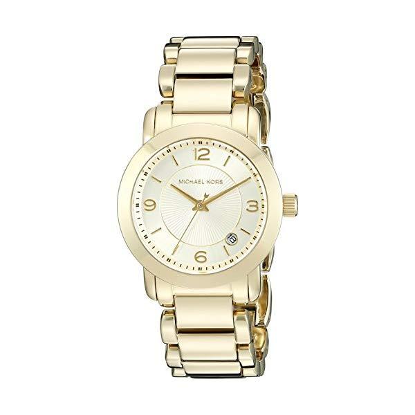 マイケルコース 時計 ウォッチ 腕時計 レディース 女性用 Michael Kors Women's Goldtone Janey Watch with Champagne Dial