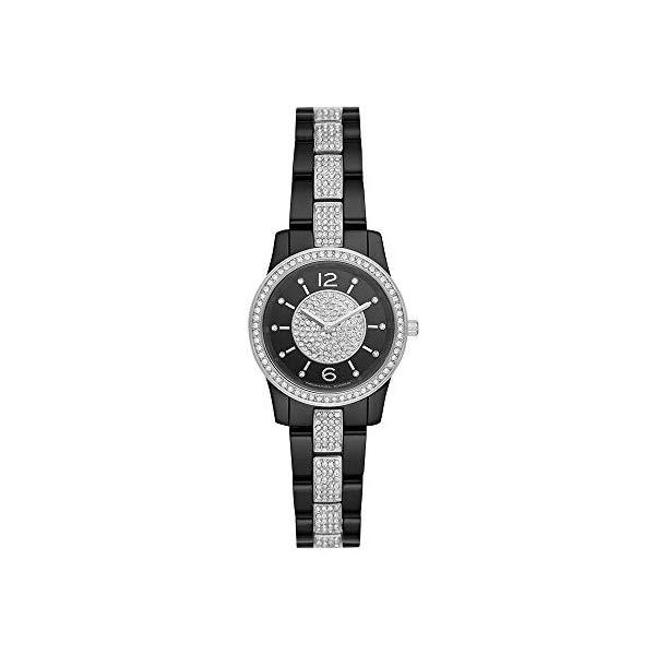 マイケルコース 時計 ウォッチ 腕時計 MK6620 Michael Kors Women Runway Quartz Stainless Steel Black with Black Dial Watch MK6620