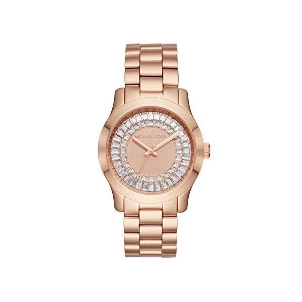 マイケルコース 時計 ウォッチ 腕時計 レディース 女性用 MK6533 Michael Kors Women's Runway Baguette Rose Gold-Tone Watch MK6533