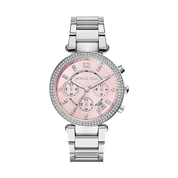 マイケルコース 時計 ウォッチ 腕時計 レディース 女性用 MK6105 Michael Kors Women's Chronograph Parker Stainless Steel Bracelet Watch 39mm MK6105
