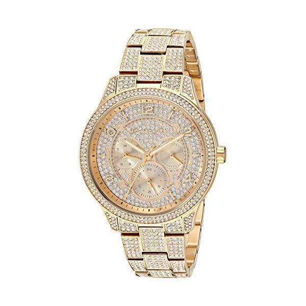 マイケルコース 時計 ウォッチ 腕時計 レディース 女性用 MK6627 Michael Kors Women's Runway Quartz Watch with Stainless-Steel-Plated Strap, Gold, 18 (Model: MK6627)