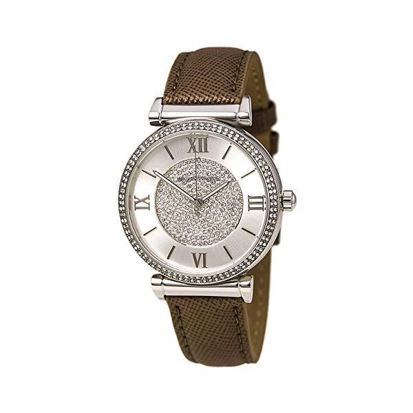 マイケルコース 時計 ウォッチ 腕時計 レディース 女性用 MK2377 Michael Kors MK2377 Caitlin Crystal Pave Glitz Pearl Gray Leather Strap Womens Watch
