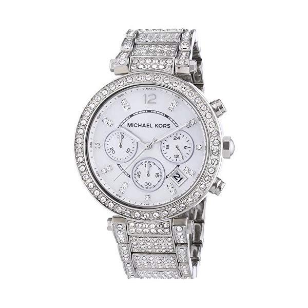 マイケルコース 時計 ウォッチ 腕時計 Kors Watch レディース 女性用 Super MK5572 Michael Kors Women's 'Parker' Silver Super Glitz Watch MK5572, BIG-RIVER:74d9e73b --- ww.thecollagist.com