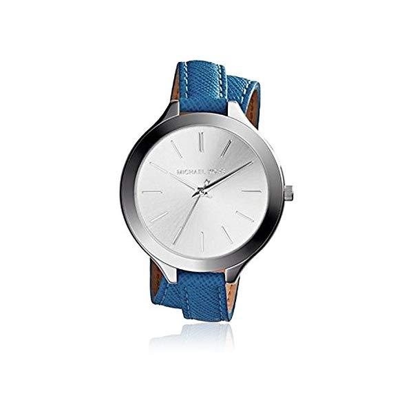 マイケルコース 時計 ウォッチ 腕時計 レディース 女性用 MK2331 Michael Kors MK2331 Double Wrap Blue Leather Watch