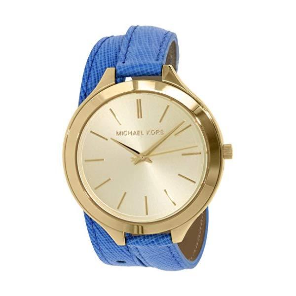 マイケルコース 時計 ウォッチ 腕時計 レディース 女性用 MK2286 Michael Kors Women's Runway MK2286 Blue Leather Quartz Fashion Watch