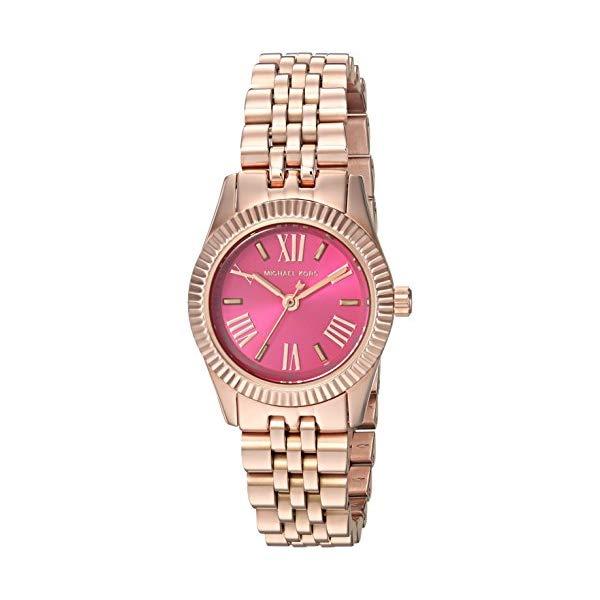 マイケルコース 時計 ウォッチ 腕時計 レディース 女性用 MK3285 Michael Kors Lexington Petite Pink Dial Rose Gold-tone Ladies Watch MK3285