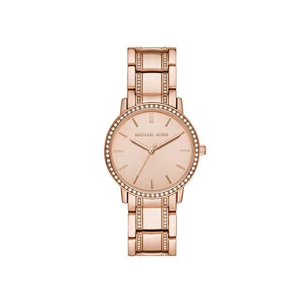 マイケルコース 時計 ウォッチ 腕時計 レディース 女性用 MK3538 Michael Kors Women's Melissa Quartz Watch with Stainless-Steel-Plated Strap, Rose Gold, 18 (Model: MK3538)