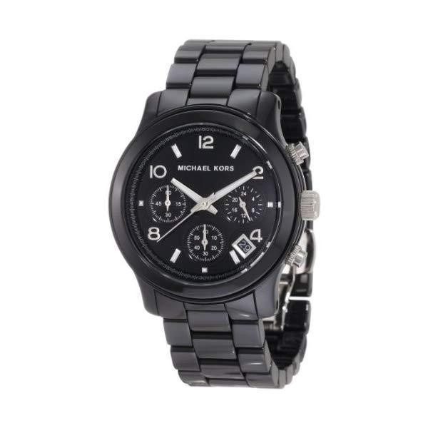 マイケルコース 時計 ウォッチ 腕時計 レディース 女性用 MK5162 Michael Kors Women's MK5162 Black Ceramic Runway Watch
