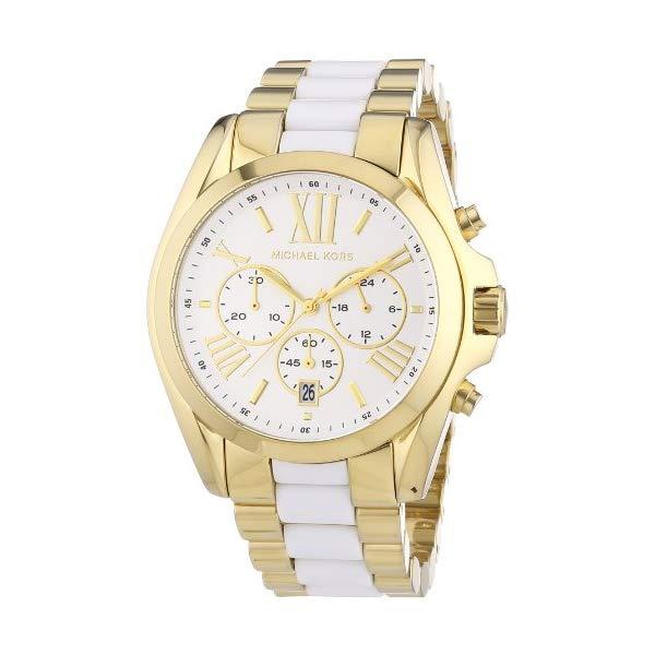 マイケルコース 時計 ウォッチ 腕時計 レディース 女性用 Michael Kors Women's Bradshaw Chronograph Watch, Gold, One Size