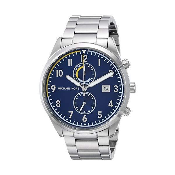マイケルコース 腕時計 Michael Kors MK8574 ウォッチ メンズ 男性用 Michael Kors Men's Analog-Quartz Watch with Stainless-Steel Strap, Silver, 21 (Model: MK8574)