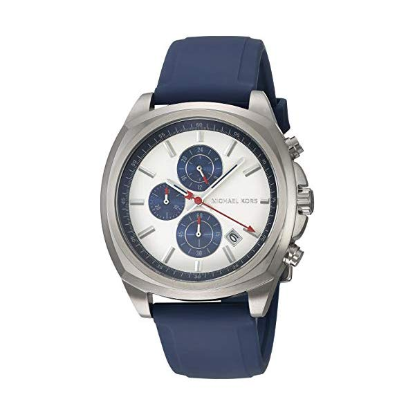 マイケルコース 腕時計 Michael Kors MK8648 ウォッチ メンズ 男性用 Michael Kors Men's Bryson Stainless Steel Analog-Quartz Watch with Silicone Strap, Blue, 22 (Model: MK8648)