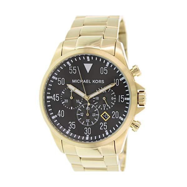 マイケルコース 腕時計 Michael Kors MK8361 ウォッチ メンズ 男性用 Michael Kors Gage Chronograph Black Dial Gold-tone Mens Watch MK8361