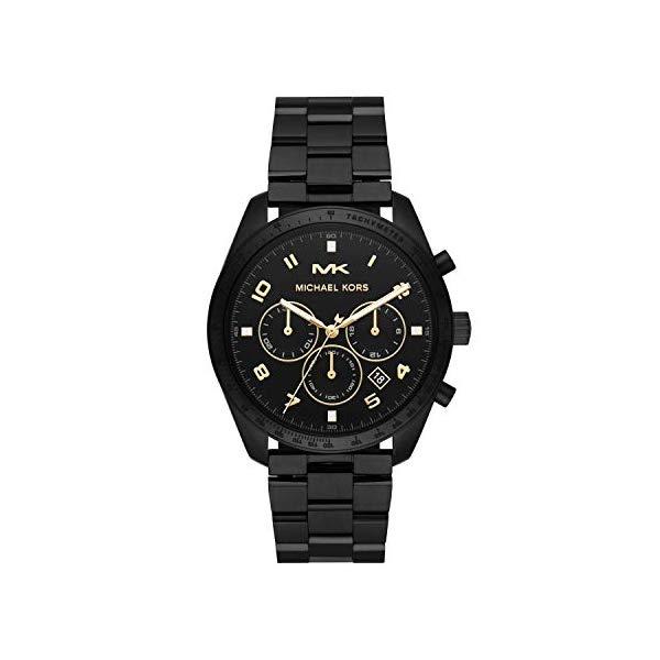 マイケルコース 腕時計 Michael Kors MK8684 ウォッチ メンズ 男性用 Michael Kors Men's Keaton Quartz Watch with Stainless-Steel-Plated Strap, Black, 22 (Model: MK8684)