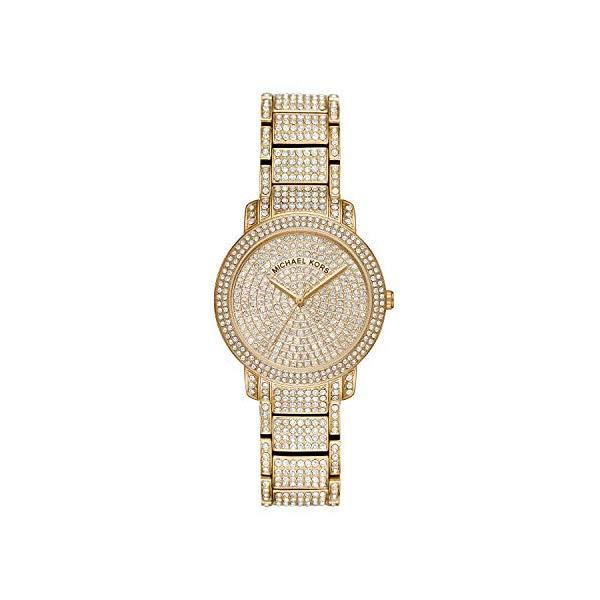 マイケルコース 腕時計 Michael Kors MK6458 ウォッチ レディース 女性用 Michael Kors Women's Gold Tone Pave Glitz Watch MK6458