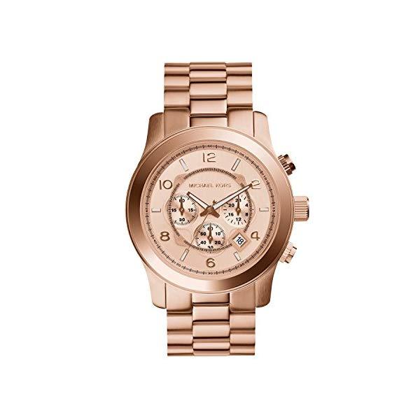 マイケルコース 腕時計 Michael Kors MK8096 ウォッチ メンズ 男性用 Michael Kors MK8096 Men's Runway Rose Gold-Tone Stainless Steel Watch