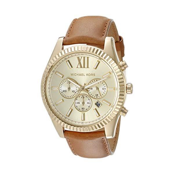 マイケルコース 腕時計 Michael Kors MK8447 ウォッチ レディース 女性用 Michael Kors Women's Goldtone Lexington Watch with A Luggage Strap