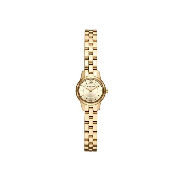マイケルコース 腕時計 Michael Kors MK6592 ウォッチ レディース 女性用 Michael Kors Women's Runway Quartz Watch with Stainless-Steel-Plated Strap, Gold, 8 (Model: MK6592)