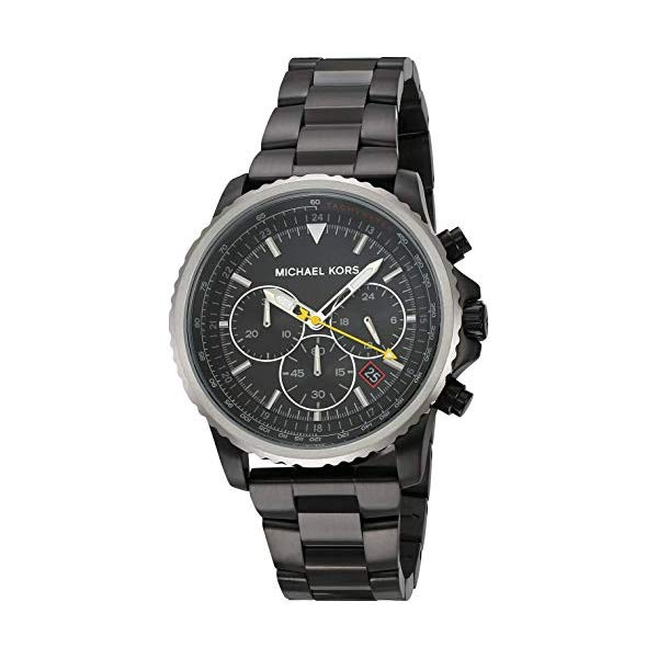 マイケルコース 腕時計 Michael Kors MK8643 ウォッチ メンズ 男性用 Michael Kors Men's Theroux Analog-Quartz Watch with Stainless-Steel-Plated Strap, Black, 18 (Model: MK8643)