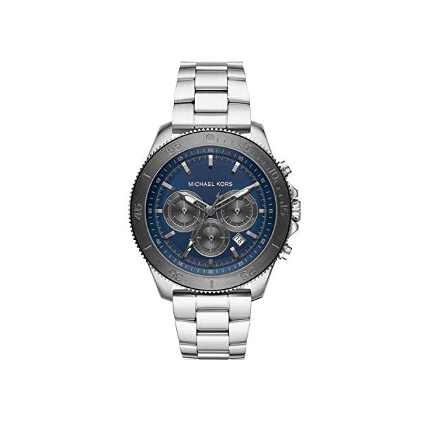 マイケルコース 腕時計 Michael Kors MK8662 ウォッチ Michael Kors Men Theroux Quartz Stainless Steel Silver with Blue Dial Watch MK8662