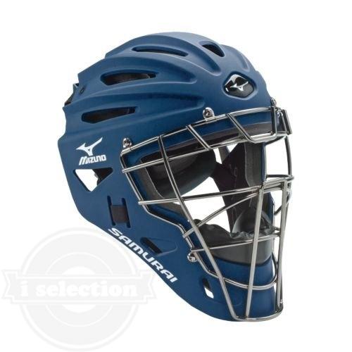 【USAミズノ サムライ G4シリーズ 硬式用 キャッチャーマスク ネイビー Mizuno G4 Samurai Catcher's Helmet Navy】