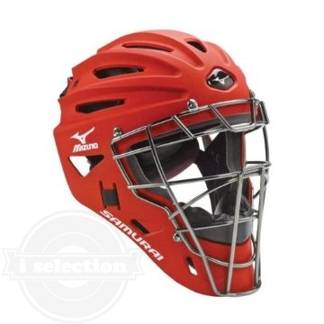 【USAミズノ サムライ G4シリーズ 硬式用 ホッケー型キャッチャーマスク 阿部モデル レッド Mizuno G4 Samurai Catcher's Helmet Red】