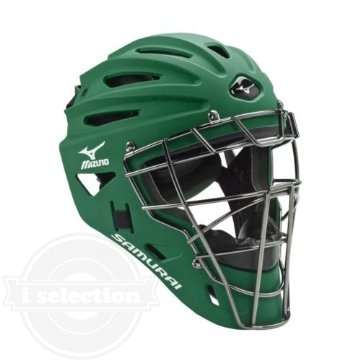 【USAミズノ サムライ G4シリーズ 硬式用 キャッチャーマスク フォレスト グリーン Mizuno G4 Samurai Catcher's Helmet Forest】