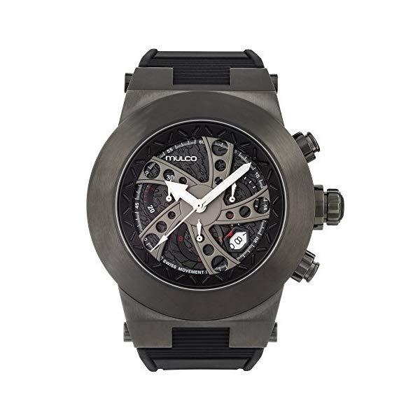 マルコ 腕時計 MULCO MW3-14026-025 メンズ 男性用 ウォッチ Mulco Evol Daccar Quartz Swiss Chronograph Men's Watch | Premium Analog Display with Gun Metal and Steel Accents | Silicone Watch Band | Water Resistant Stainless Steel Watch