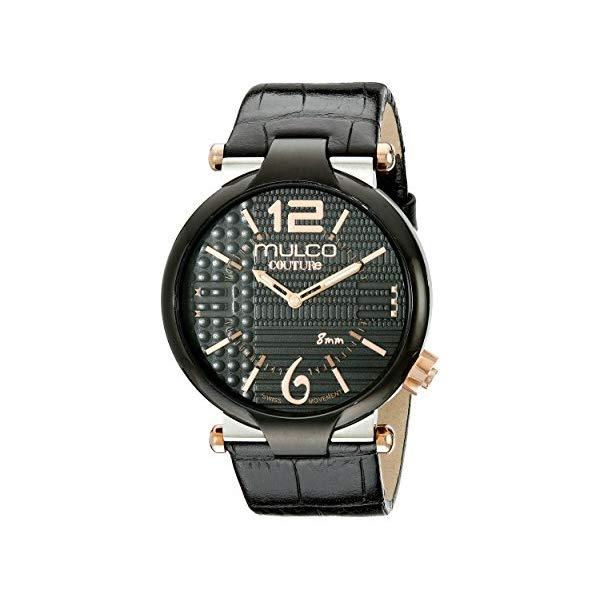 マルコ 腕時計 MULCO MW5-3183-025 ユニセックス 男女兼用 ウォッチ Mulco Couture Slim Quartz Slim Analog Swiss Movement Unisex Watch | Special Texture Design Sundial Display Accents | Leather Watch Band | Water Resistant Stainless Steel Watch
