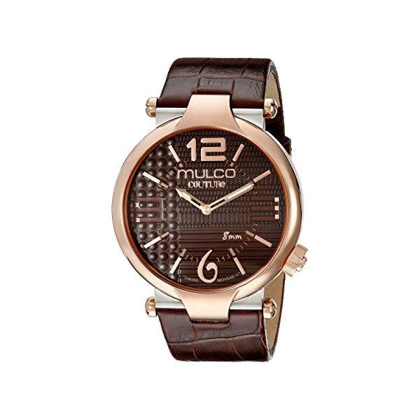 """マルコ 腕時計 MULCO MW5-3183-033 メンズ 男性用 ウォッチ MULCO Men""""s MW5-3183-033 Couture Slim Analog Display Swiss Quartz Brown Watch"""
