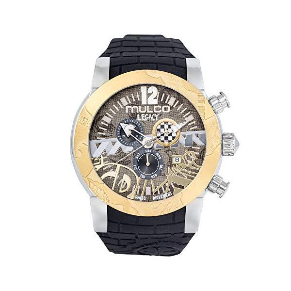 マルコ 腕時計 MULCO MW5-3701-022 レディース 女性用 ウォッチ Mulco Legacy Street Art Quartz Swiss Chronograph Movement Women's Watch | Premium Sundial Display with Gold Sport Accents | Silicone Band | Water Resistant Stainless Steel Watch