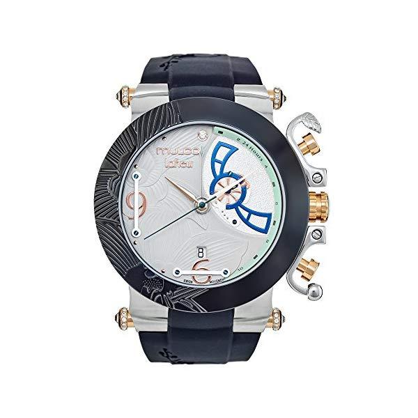 マルコ 腕時計 MULCO MW3-14003-021 レディース 女性用 ウォッチ Mulco La Fleur Hortensia Quartz Swiss Multifunctional Movement Women's Watch | Premium Sundial Display Swarovski s Accents | 100% Silicone Watch Band | Water Resistant
