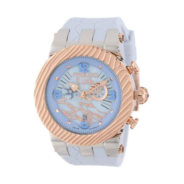 マルコ 腕時計 MULCO MW5-2365-413 レディース 女性用 ウォッチ MULCO Women's Chronograph Multifunctional Analog Watch - Stainless Steel Water Resistant - 100% Silicone Band