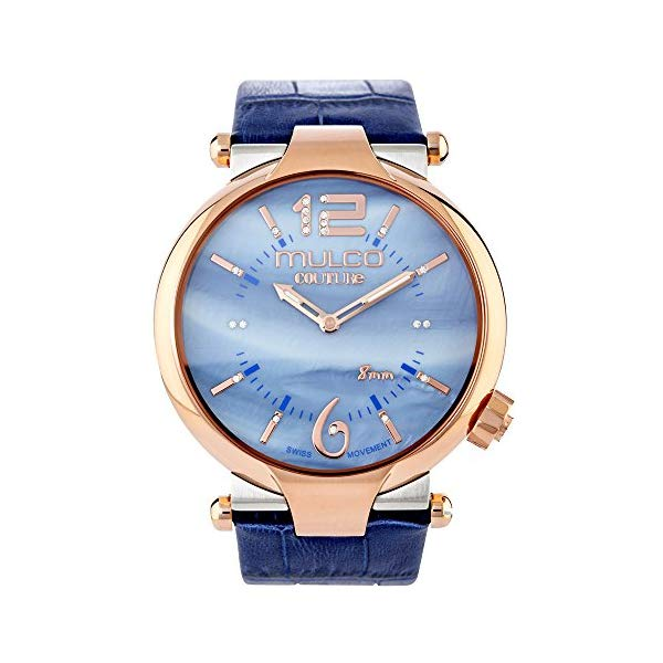 マルコ 腕時計 MULCO MW5-4234-043 レディース 女性用 ウォッチ Mulco Couture Ladies Slim Quartz Slim Analog Swiss Movement Women's Watch | Special Texture Design Sundial Display with Gold Accents | Genuine Italian Leather Band | Water Resistant