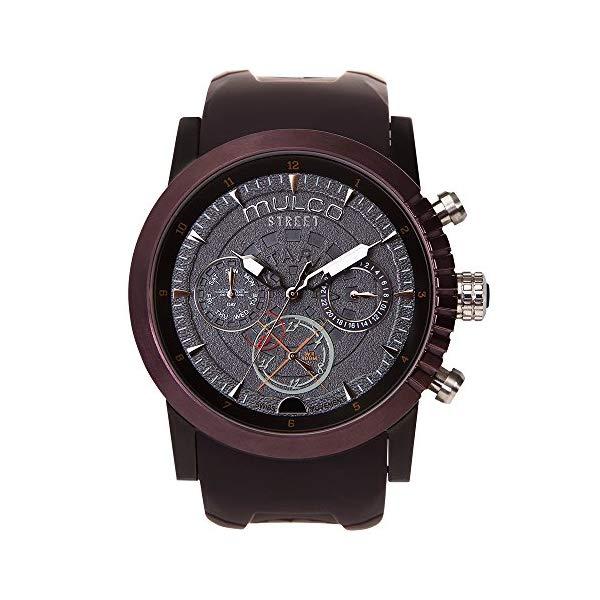 マルコ 腕時計 MULCO MW3-15097-035 メンズ 男性用 ウォッチ Mulco Street London Men's Watch - Premium Analog Display with Dual Time- 100% Silicone Band - Multifunctional Movement - Water Resistant - All Stainless Steel - MW3-15097