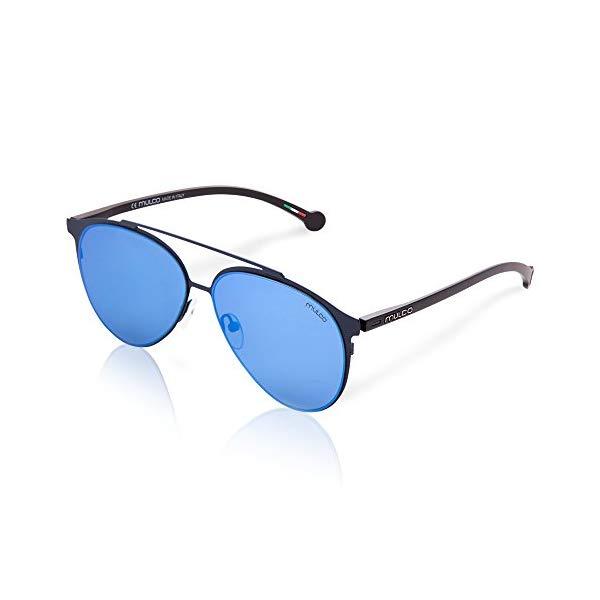 マルコ サングラス MULCO Leaf PT C145 Mulco Leaf PT C145 Black Frame / Blue Lens 50 mm Sunglasses