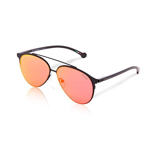 マルコ サングラス MULCO Leaf PT C165 Mulco Leaf PT C165 Black Frame / Orange Lens 50 mm Sunglasses