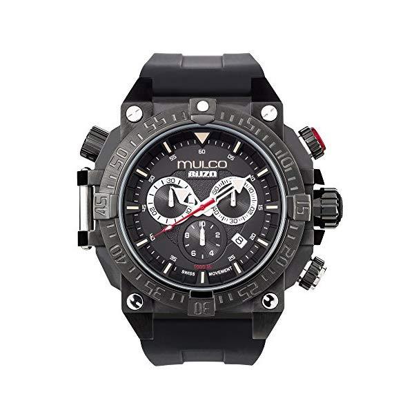 マルコ 腕時計 MULCO MB6-92565-025 メンズ 男性用 ウォッチ Mulco Buzo Dive Quartz Swiss Chronograph Movement Men's Watch | Premium Analog Display with Steel Accent | Steel Watch Band | Water Resistant Stainless Steel Watch