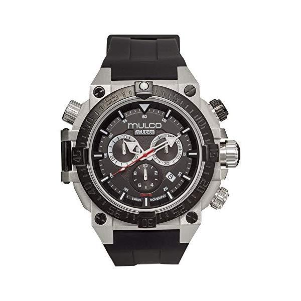 マルコ 腕時計 MULCO MB6-92565-027 メンズ 男性用 ウォッチ Mulco Buzo Dive Quartz Swiss Chronograph Movement Men's Watch | Premium Analog Display with Steel Accent | Steel Watch Band | Water Resistant Stainless Steel Watch